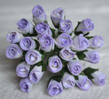 6mm LIGHT LILAC ROSE BUDS (L) Mulberry Paper Flowers